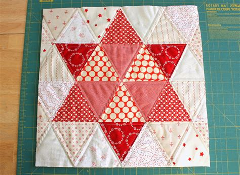 Triangle Patchwork - quilting with triangles part 3 design weallsew