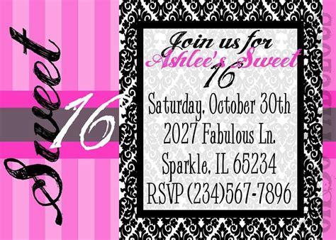 sweet 17 invitation card template sweet 16 birthday invitations free best ideas