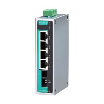 Moxa Eds 205a Ethernet Switches moxa eds 205a s sc t unmanaged ethernet switch with 4 10