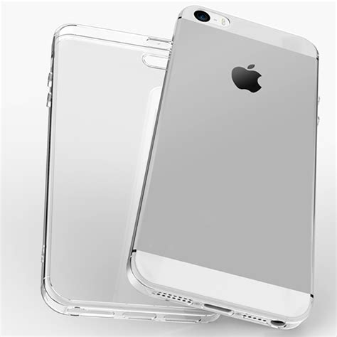 For Iphone 5 5s Se Soft Clear Shockproof Anti Knock Tebal Casing 3 ultra thin clear transparent shockproof soft tpu for iphone 5 5s se sale banggood