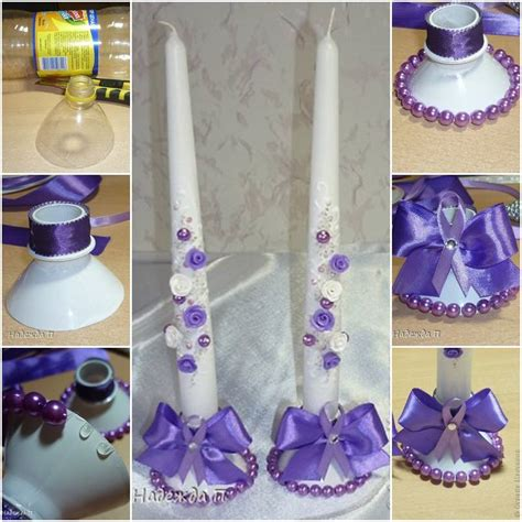 diy beautiful diy beautiful candle holder from plastic bottle