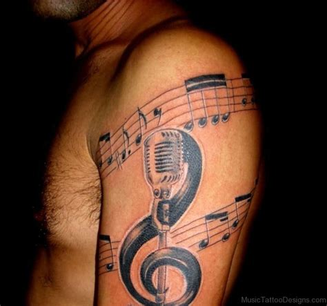 musical tattoos for men 54 attractive tattoos for shoulder