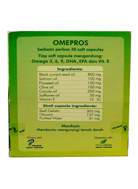 Vitamin Omepros Omepros Supplemen Makanan 30 S Box Klikindomaret