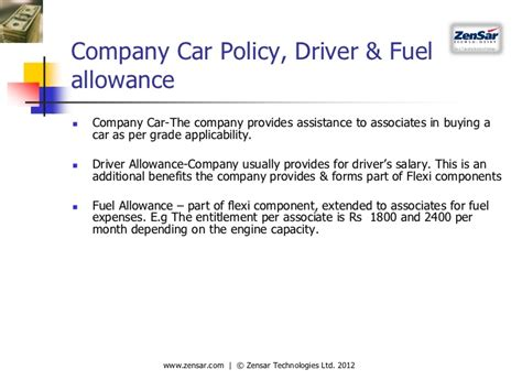 Compensation Benefits Nhrdn Workshop Pune 17th March 2012 Company Car Allowance Policy Template