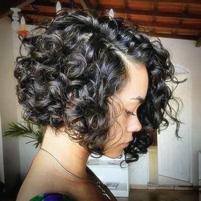 Asymmetrical Short Curly Hair Styles 2018 Short Bob Hair