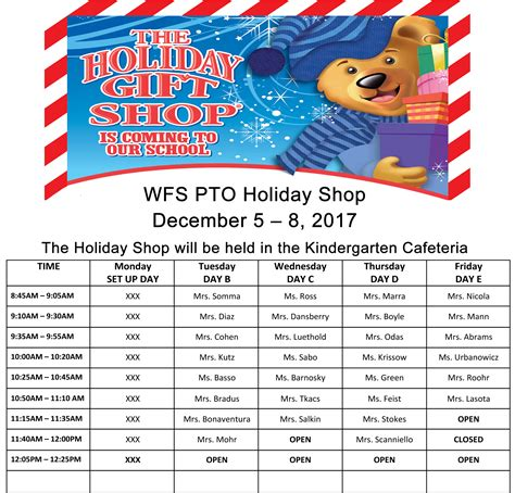 christmas gifts from pto to all students wfs pto