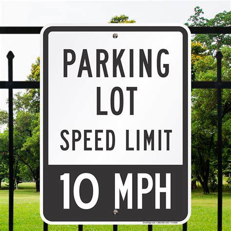 mobile app new signs lights to ease parking woes at fort parking lot sign speed limit 10 mph sign sku k 6689
