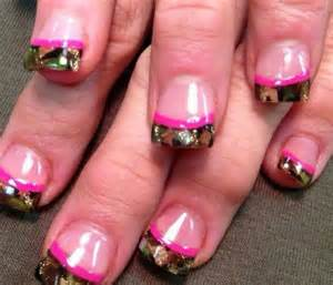camo amp pink nail art designs pinterest