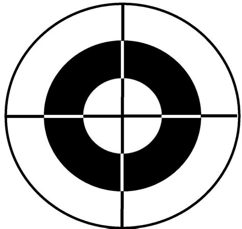 printable large rifle targets printable shooting target clipart best