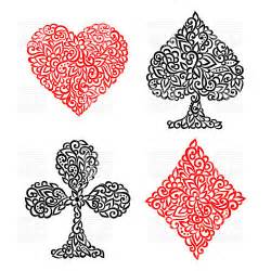 Playing cards suits clipart playing card suits made of