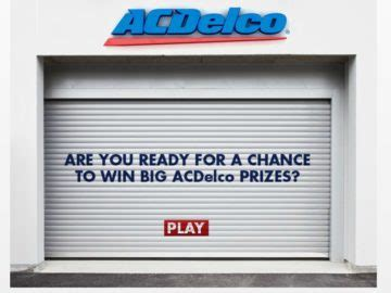 Garage Sweepstakes - 2016 acdelco garage sweepstakes