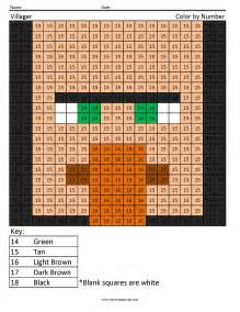 Minecraft villager colouring pages page 2