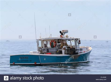 lobster boat diana maine lobster boat diane on a summer day stock photo