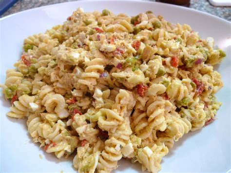 tuna pasta salad food comas
