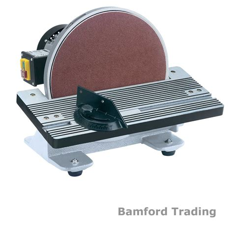 bench sanders draper bench table disc disk sander 305mm 750w 230v drum power electric 88912 ebay