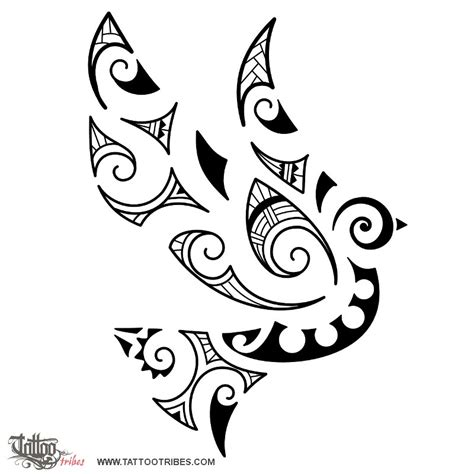 tribal dove tattoos of maori style dove maori series air