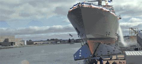 tow boat gif launch of the uss detroit gifs