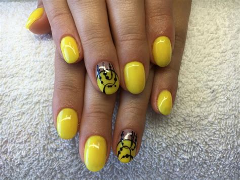 nails designs yellow acrylic and white 21 yellow nail art designs ideas design trends