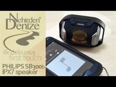 philips sb300b ipx7 waterproof portable bluetooth speaker