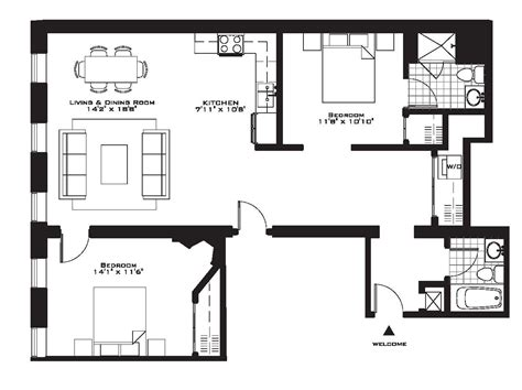 appartment floor plans exquisite luxury 2 bedroom apartment floor plans on