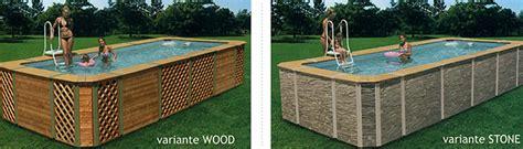 rivestimento in legno per piscine fuori terra rivestimenti per piscine fuori terra