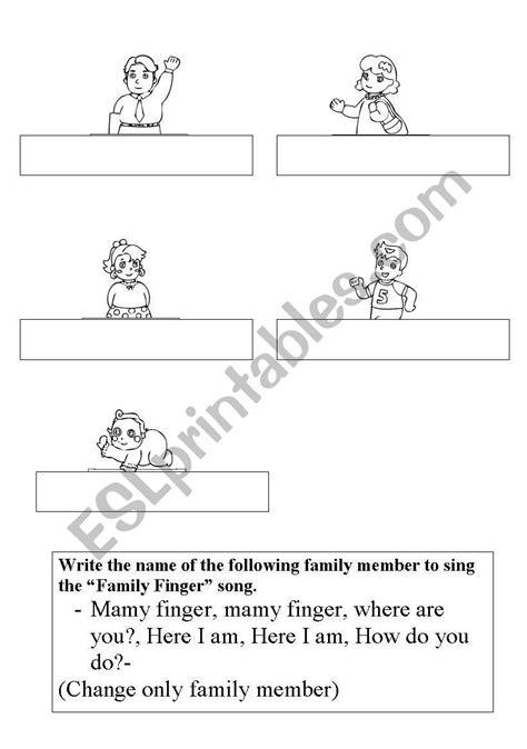 finger family - ESL worksheet by luarale