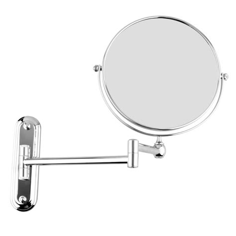 magnifying bathroom mirror chrome wall mounted extending folding makeup shaving