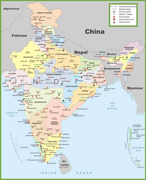 india on map maps update 800977 tourist map of india places to