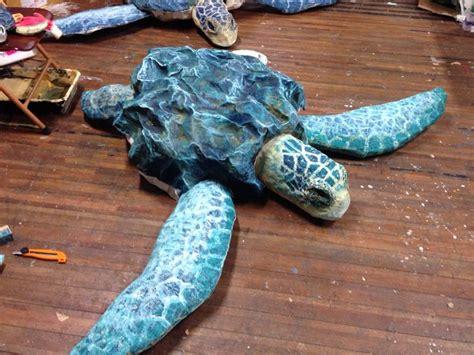 How To Make A Paper Mache Turtle - paper mache sea turtle work paper turtles