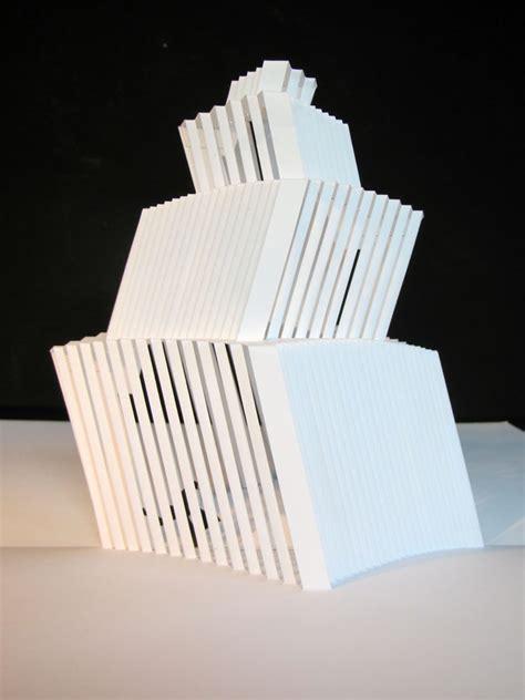 Origami C - origamic pop up tower kristine suhr