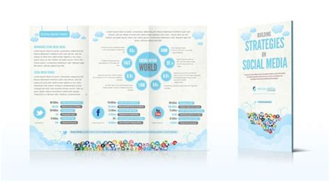 social media brochure template brochure templates 40 affordable high quality designs designrfix