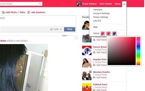change themes facebook profile how to change facebook s boring blue theme to any color