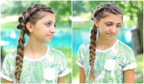 dutch braid back to school hairstyles side dutch braid combo back to school hairstyles