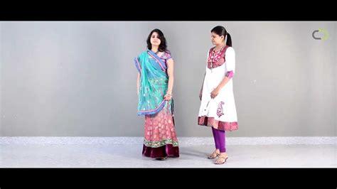 how to a show how to wear a lehenga choli