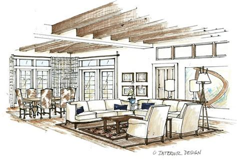 interior design sketches rhythm balance scale and texture jscib designs