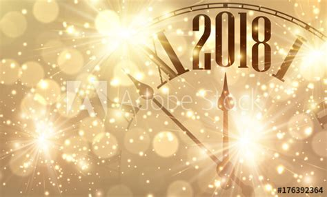 significance during new year 2018 new year banner with clock buy this stock vector