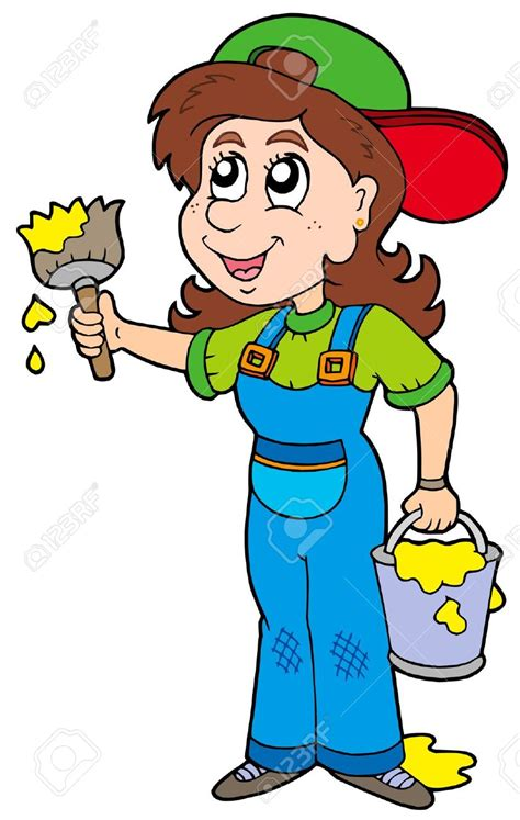 what does a house painter do house painting clipart