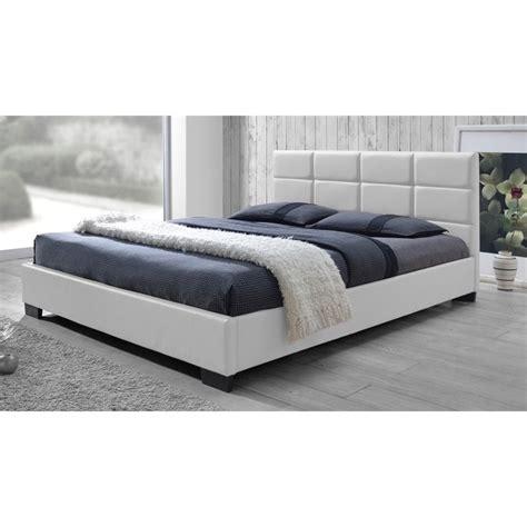 white full platform bed vivaldi leather upholstered full platform bed in white