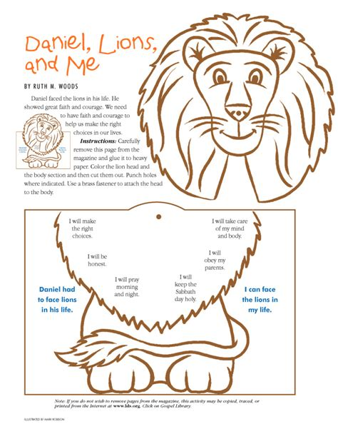 daniel bible craft free daniel and lions den coloring pages