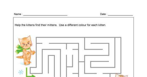 printable mitten maze kitten mitten maze animaplates