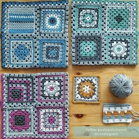 Patchwork Square Afghan - 17 best ideas about crochet on
