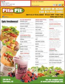 Pit Prices Pita Pit Menu Hours Prices 230 8th St Courtenay Bc