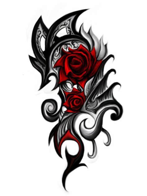 tribal pattern rose rose tribal tattoo clipart best
