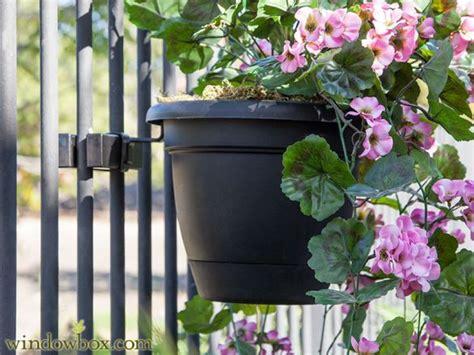 Planter Holder For Railing by 10in Planter Holder Railing Planter Boxes Pots