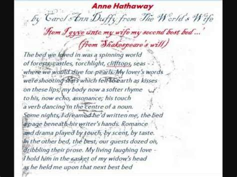 by carol duffy annotated hathaway by carol duffy