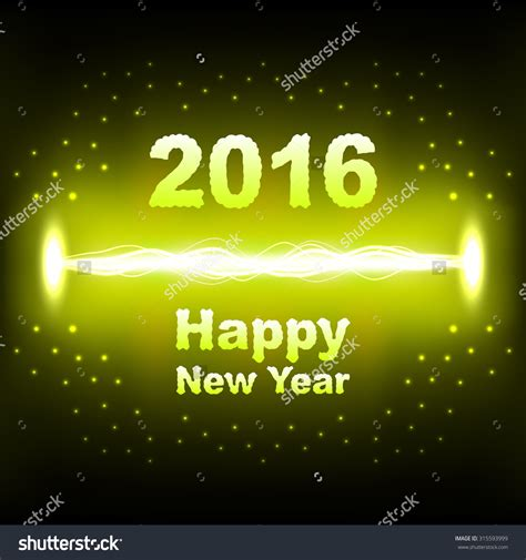 new year words 2016 electrical discharge lightning with words quot 2016 happy new