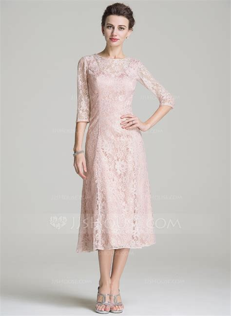 mother   bride dresses tea length lace