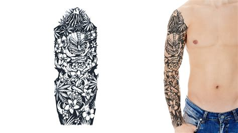sleeve tattoo design template custom sleeve designs