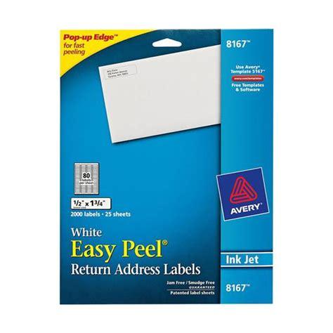 avery printable return address labels avery 8167 white easy peel return address labels 1 2 x 1