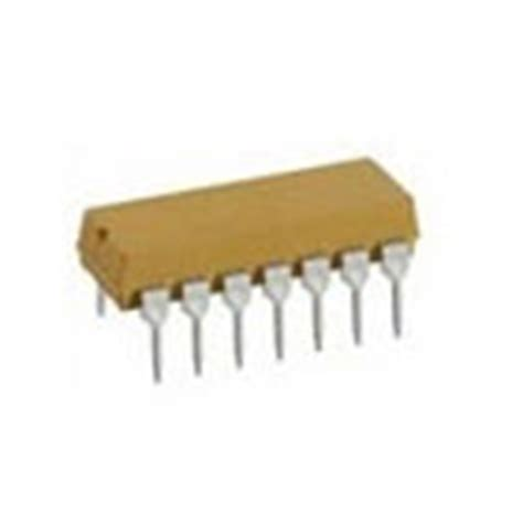 resistor dip 4114r 001 121 isolated bussed 14 pins 7 resistors dip resistor 120 ohm